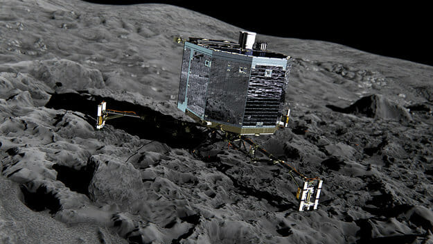 Philae_on_the_comet_Front_view_large